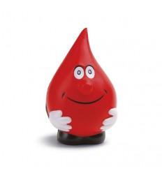 Gota de Agua Roja Antiestrés personalizado con logo de empresa