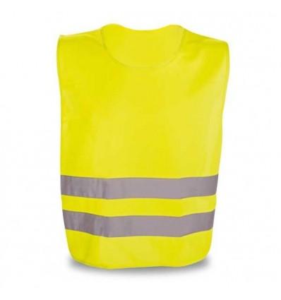Chaleco Reflectante de Poliéster Promocional Color Amarillo