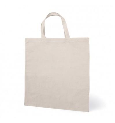 Bolsa Algodón con Asas Pequeñas para Regalo Personalizado Color Crudo