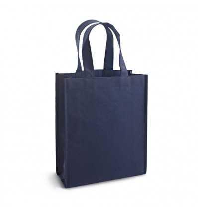 Bolsa de la Compra con Asas Pequeñas para Publicidad Promocional Color Azul