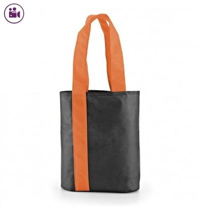 Bolsa Compra con Asas de Color con Logo Personalizado Promocional Color Naranja