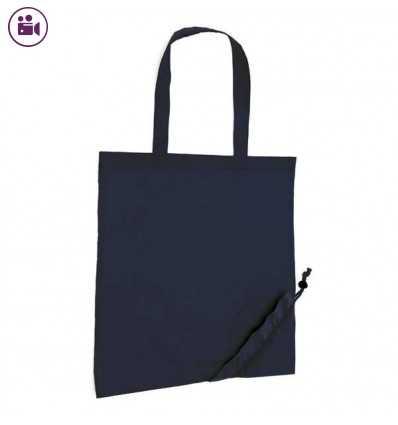 Bolsa Plegable con Asas para Publicidad de Empresa Color Azul