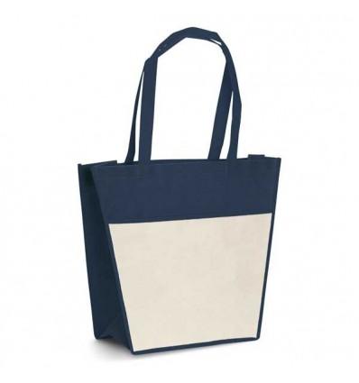 Bolsa de la Compra con Bolsillo Delantero personalizada Color Azul