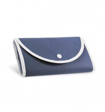 Bolsa Plegable con Bolsillo Delantero con Logo Personalizado Publicitario Color Azul