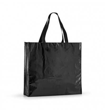 Bolsa de la Compra Laminada para Publicidad de Empresa Color Negro