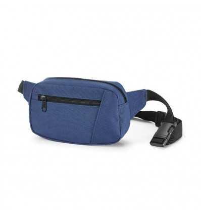 Riñonera con Bolsillo Delantero Publicitariacon Logo de Empresa Color Azul