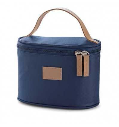 Neceser de Viaje de Polipiel y Microfibra para Merchandising Color Azul