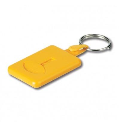 Llavero con Moneda Extraíble para Logo de Empresa Color Amarillo