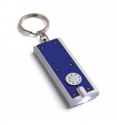 Llavero con Linterna con Logo Publicitario Color Azul