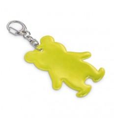 Llavero Reflectante con forma de Muñeco Promocional Color Amarillo