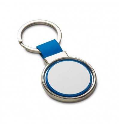 Llavero Giratorio de Metal para Regalo Promocional Publicitario Color Azul