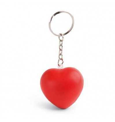 Llavero Antiestrés con forma de Corazón con Logo Personalizado Promocional