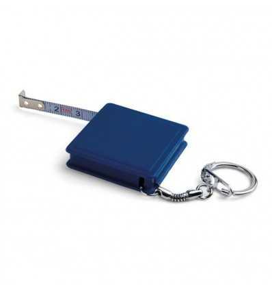 Llavero con Flexómetro para Publicidad Color Azul