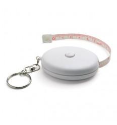 Llavero Blanco con Flexómetro para Merchandising Color Blanco