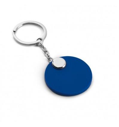 Llavero Redondo de PVC Promocional Color Azul Royal