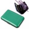 Tarjetero Acordeón Aluminio Promocional Color Verde