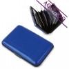 Tarjetero Acordeón Aluminio Merchandising Color Azul