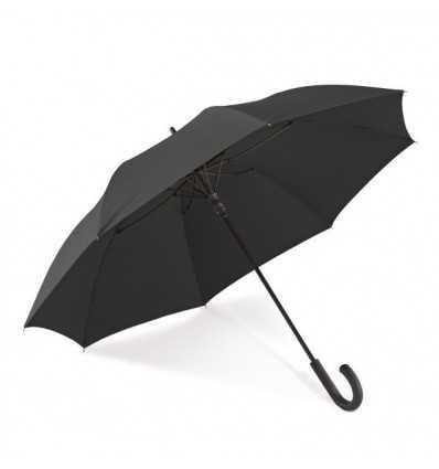 Paraguas Negro con Mango Curvo color Negro