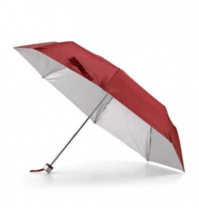 Paraguas Plegable con Interior Plateado para Logo de empresa