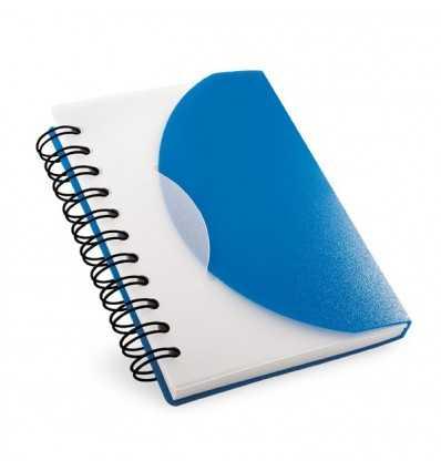 Bloc de Notas con tapa Translúcida para Merchandising Color Azul