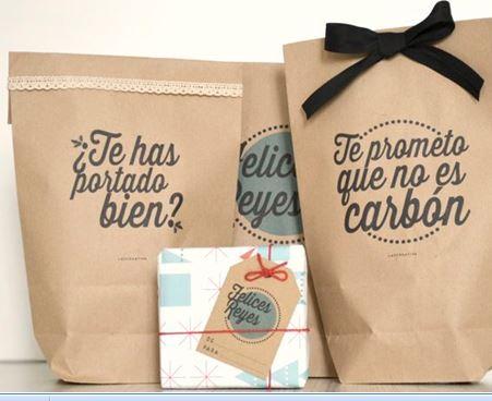766a75200 Bolsas de papel personalizadas, una opción distinta para los regalos  navideños.