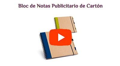 Bloc de Notas de Cartón con Bolígrafo