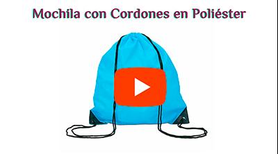 Mochila con Cordones en Poliéster