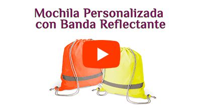 Mochila Saco con Banda Reflectante