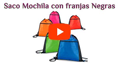 Mochila Saco Non-Woven con Cremallera