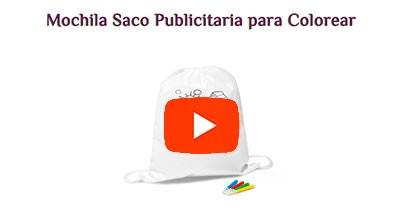 Mochila Saco Publicitaria para Colorear